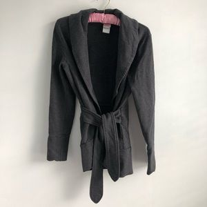 The North Face Charcoal Grey Wrap Tie Cardigan